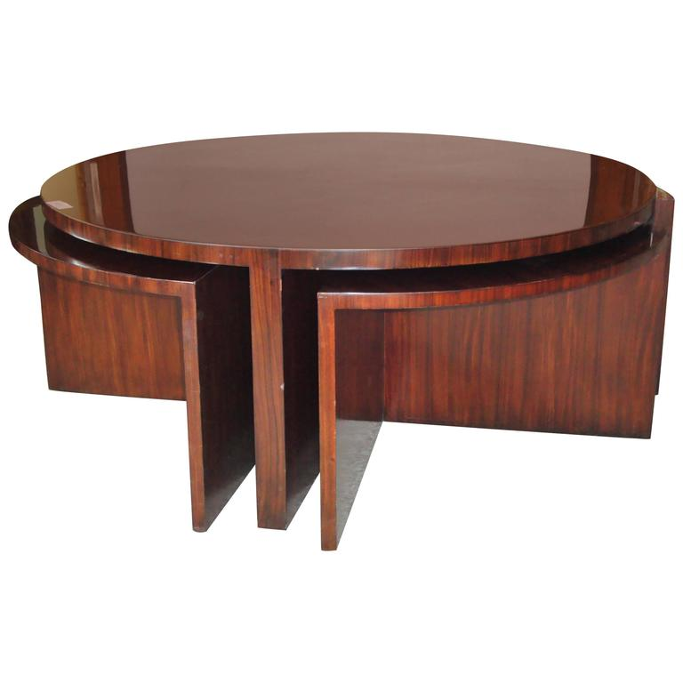 Ralph Lauren Five Piece Pull Out Cocktail Or Coffee Table