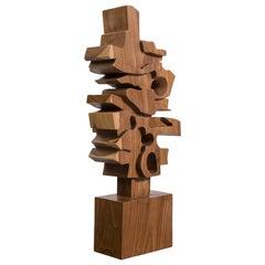 Hand-Carved Wooden Sculpture by Gabriela Valenzuela-Hirsch