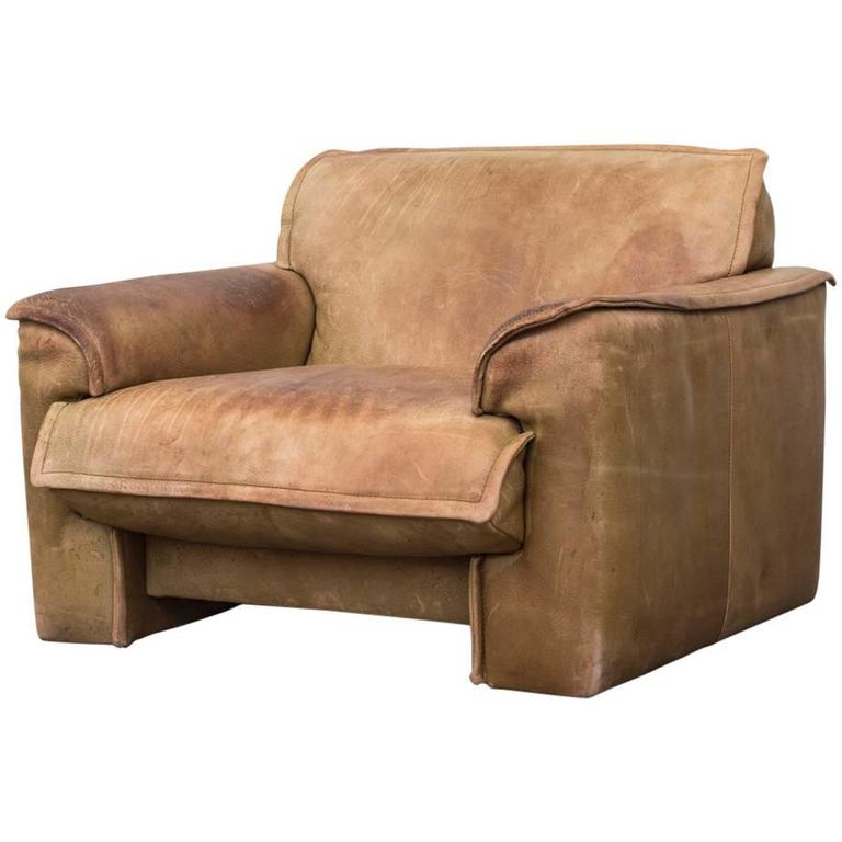 Leolux Buffalo Leather Lounge Chair At 1stdibs