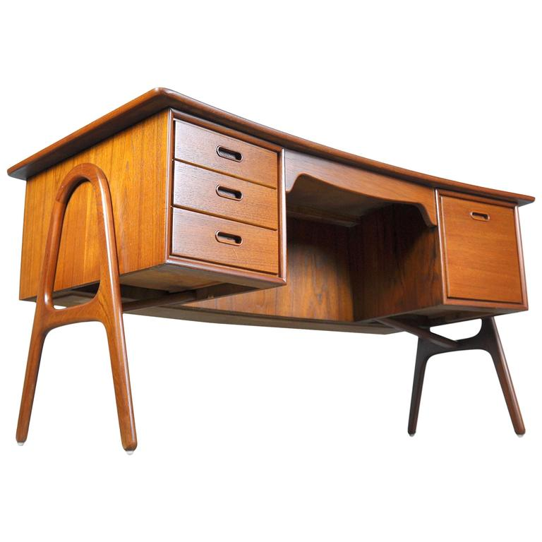 Svend Aage Madsen Teak Desk For Sale