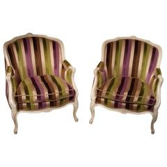 Set of Late 19th Century French Chairs with New Upholstery