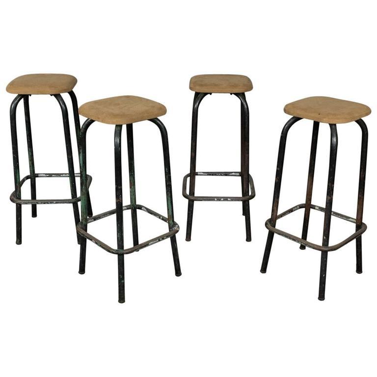 French 1950s Set of Bar Stools