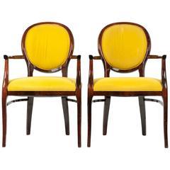 Mid-Century Modern Art Deco, Pair of Chairs