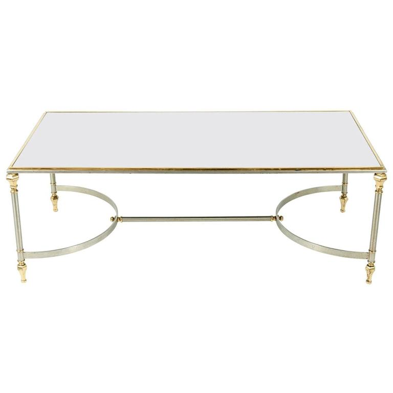 Mid Century Modern Glass Top Cocktail Table For Sale At 1stdibs