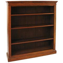 English Rosewood Open Bookcase with Adjustable Shelves