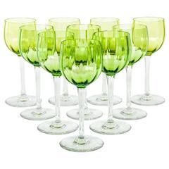 Vintage Acid Etched Baccarat Wine Glassware Set