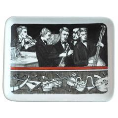 "1960s Piero Fornasetti ""Musicalia"" Ceramic Dish"