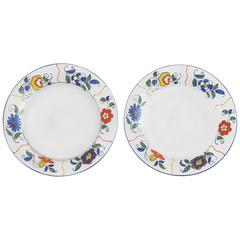 Art Deco Sevres Enameled Glass Plates