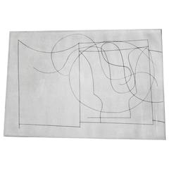 "Ben Nicholson, ""Flowing Forms,"" Etching, 1966"