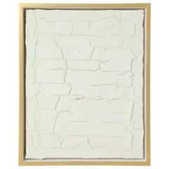 Peter Buchman Untitled No. 3, Plaster Series on Wood with Frame, 2016