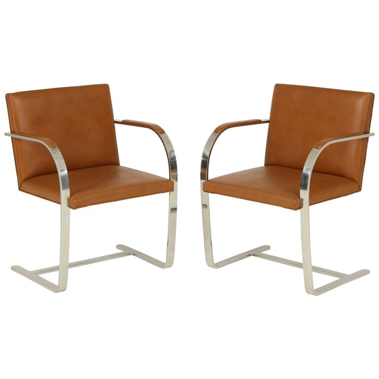 Pair of Mies van der Rohe Brno Chairs by Knoll, circa 1960s 1