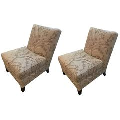 Sophisticated Pair of Slipper Chairs