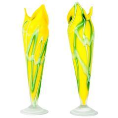 Mid-Century Pair of European Decorative Vases/Pieces