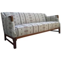 Vintage Danish Sofa with Coral and Tusk Fabric