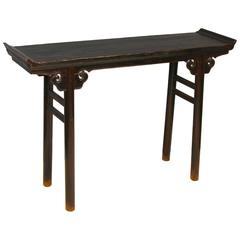 19th Century Elmwood Console or Altar Table