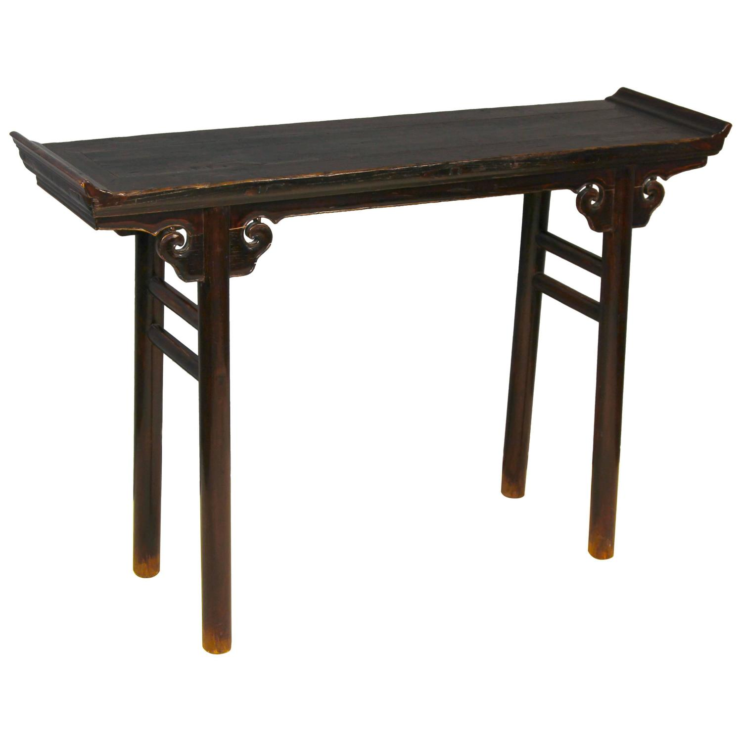 19th century elmwood console or altar table for sale at for Chinese furniture norwalk ct