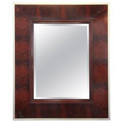 Flame Mahogany Mirror by Thomas O'Brien