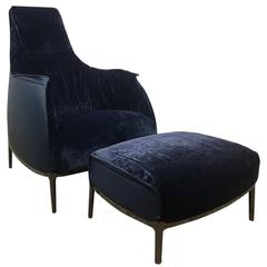 "Poltrona Frau Limited Edition Unicef ""Archibald"" Armchair and Ottoman"
