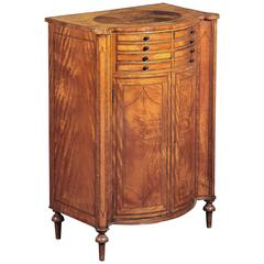 Late George III Ebony, Inlaid Satinwood Side Cabinet