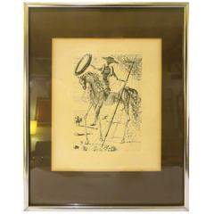 1960s Salvador Dali Don Quixote Original Etching Signed in the Plate COA