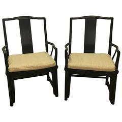 Pair of Armchairs by Michael Taylor for Baker