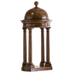 Antique Italian Walnut Architectural Model of a Baldachin from Italy circa 1870