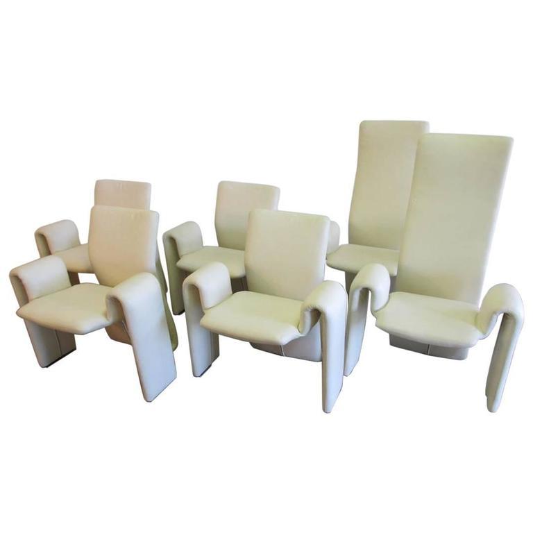 Set of Six Steve Leonard Modern Dining Chairs for Brayton International