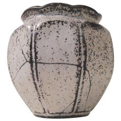 Black and White Pottery Vase by Svend Hammershoi for Kaehler, 1930s, Denmark