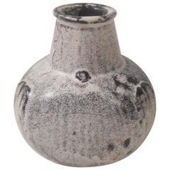 Black and White Pottery Vase by Svend Hammershøi for Kähler, Denmark, 1930s