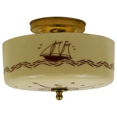 Nautical Compass Ceiling Flushmount