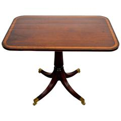 English 19th Century Mahogany Tilt-Top Side Table