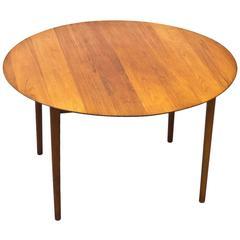 1950s Solid Teak Dining Table by Hvidt & Molgaard