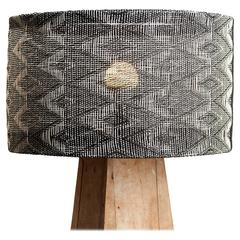 Medium 'Monochrome' Handwoven Lampshade