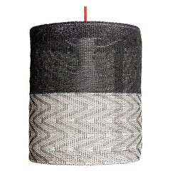Small 'Monochrome' Handwoven Lampshade