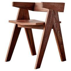 'Go' Chair with Reclaimed Burmese Teak