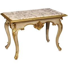 20th Century Italian Coffee Table in Lacquered and Gilded Wood