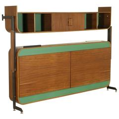 Bed-Cabinet Attributed to Franco Campo Mahogany Veneered Bent Plywood, 1950s