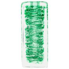 Green 'Whirlpool' Vase