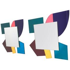 Pair of Mirrors in the Style of Ettore Sottsass, 2000s