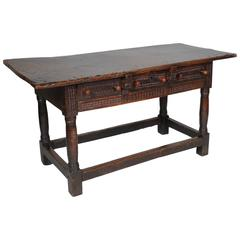 Rare 17th Century Spanish Walnut Table