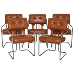 Set of Five Tucroma Dining Chairs Designed by Guido Faleschini