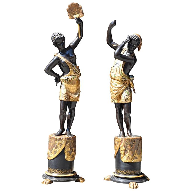 Elegant Pair of French Blackamoors - Early 19th Century