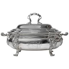 Superb George II Silver Soup Tureen from Ham House