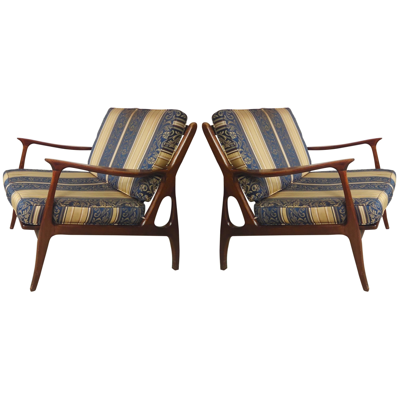Striking Mid-Century Modern Armchairs