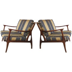Striking Mid-Century Modern Armchairs