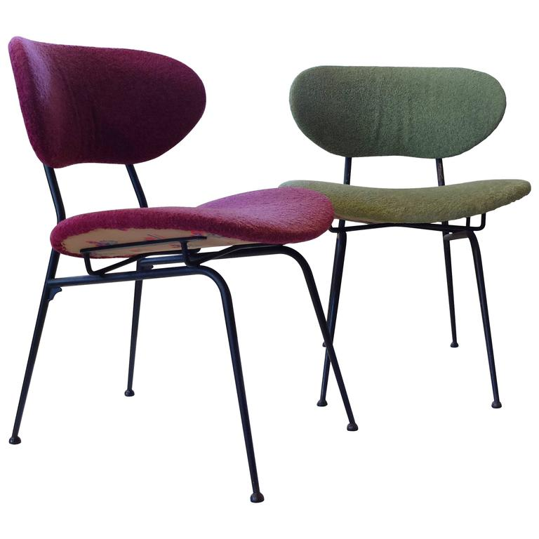 Pair of Mid-Century Modern Chairs Produced by RIMA in Original Upholstery, 1950s