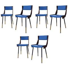 Set of Six Extremely Rare Chairs by Gianfranco Frattini