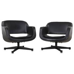 Pair of Swivel Club Chairs by Eero Aarnio for Asko, Finland