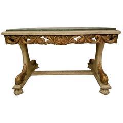 19th Century Italian Marble-Top Center Table
