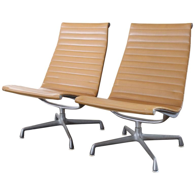 Authentic Ea33 Eames Aluminum Group Lounge Chair For